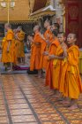 Young monks in Wat Phra That Doi Suthep, Temple, Chiang Mai, Northern Thailand, Thailand, Asia — Stock Photo