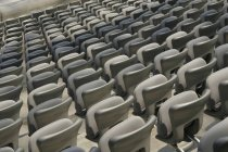 Chairs on stadium in a row, Allianz Arena , Germany, Bavaria, Munich — Stock Photo