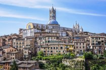 View of the old town with cathedral, Siena, Tuscany, Italy, Europe, — Stock Photo