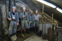 Workers in workwear during construction, Underground Canal, Vienna, Austria — Stock Photo