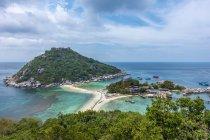 Переглянути над острова Кох Нанг юанів, також Нанг юанів, поблизу Koh Tao Сіамській, Таїланду, Азії — стокове фото
