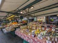 Market at Obstmarkt Square, Bolzano — Stock Photo