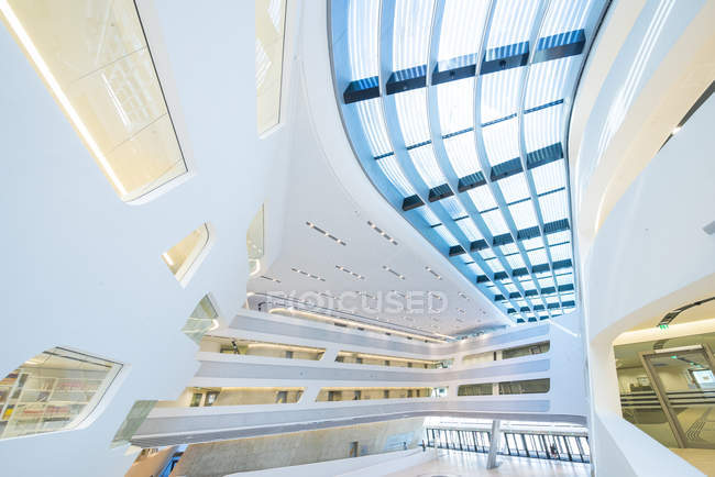 WU Campus Vienna, Vienna University of Economics and Business, LC, Library and Learning Center, Zaha Hadid, Austria, Vienna — Stock Photo
