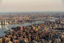 Aus der Vogelperspektive auf das Stadtbild von New York City — Stockfoto