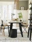 Vista degli interni del soggiorno, focus selettivo — Foto stock