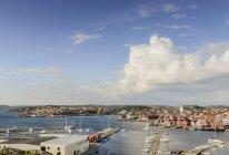 Blick auf das Fischerdorf an der schwedischen Westküste — Stockfoto
