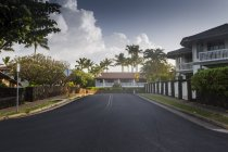 Road in residential neighborhood, selective focus — Stock Photo