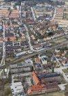Вид с воздуха на здания и дороги, Уппсала, Швеция — стоковое фото