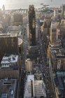 Blick von oben auf die Innenstadt in New York City — Stockfoto