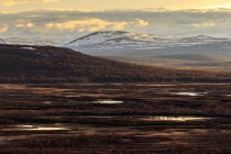 Vista panoramica del tramonto sulle montagne , — Foto stock