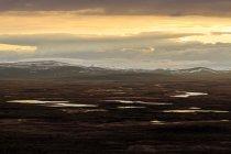 Мальовничий вид на захід сонця над горами, Tavvavouma — стокове фото