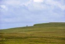 Vista panorámica del acantilado verde y el cielo nublado - foto de stock