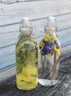 Бутылки традиционного шведского напитка — стоковое фото