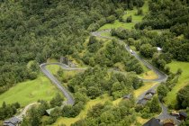 Elevated view of winding road at Trollstigen — Stock Photo