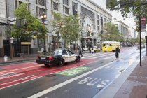 Cop car at San Francisco, California, selective focus — Stock Photo