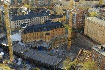 Vista elevada do canteiro de obras em Éstocolmo, Sweden — Fotografia de Stock