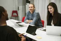 Businesspeople in meeting, selective focus — Stock Photo
