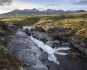 Fiume attraverso il Parco Nazionale di Rondane, Norvegia — Foto stock