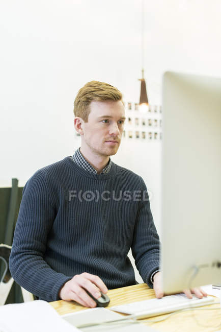 Architect working in office, selective focus — Stock Photo
