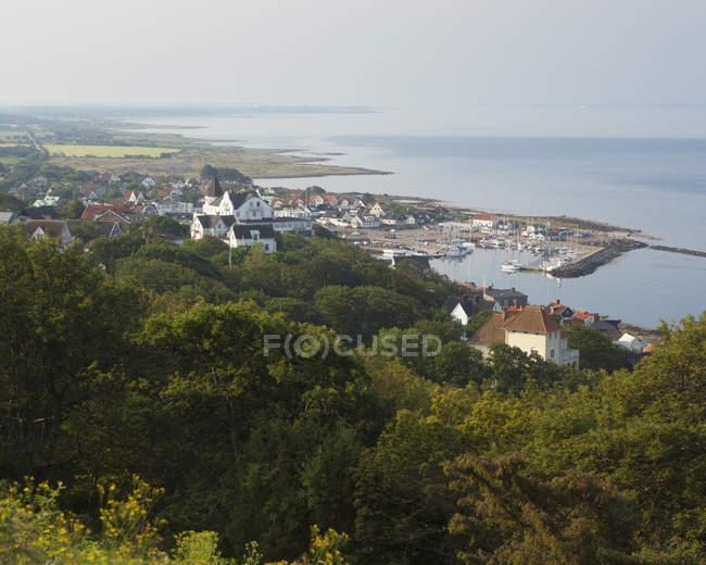 Luftaufnahme der Küste Stadtgebäude — Stockfoto