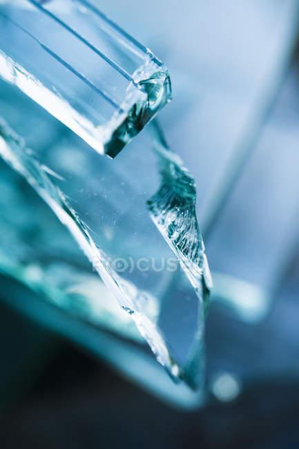 Colpo ravvicinato di vetro rotto — Foto stock