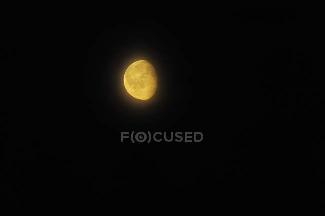 Low angle view of moon in on black background — Stock Photo
