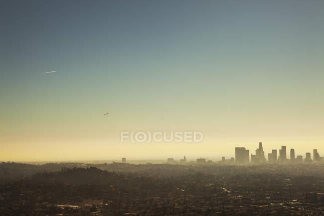 Мальовничий вид на центр міста будівель в Лос-Анджелесі — стокове фото