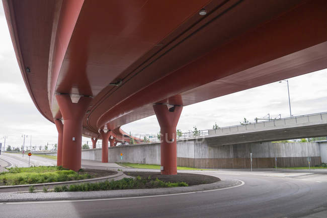 Low angle view of Partihallsforbindelsen elevated road — Stock Photo