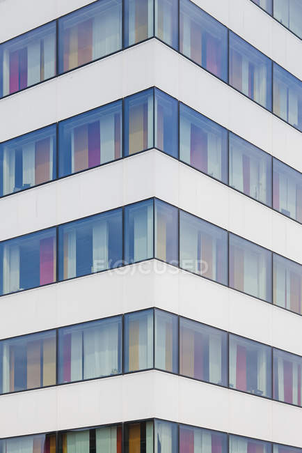 Corner of modern building, stockholm, sweden — Stock Photo