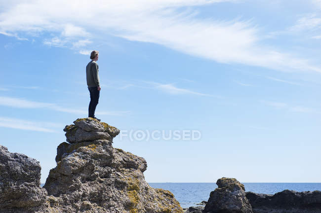 Young adult man looking at view — Stock Photo