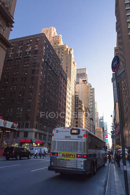 Уличное движение в Нью-Йорке — стоковое фото