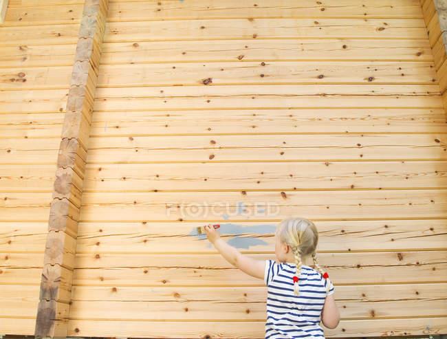 Вид сзади дома для девочек — стоковое фото