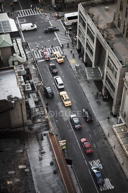 Traffic in street, selective focus — Stock Photo