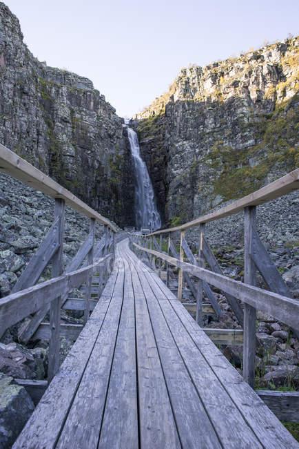 Walking Trail und Rock Formation in Idre, Schweden — Stockfoto