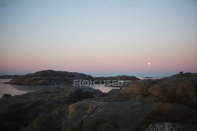 Malerische Stadtbild von Lysekil während des Sonnenuntergangs — Stockfoto