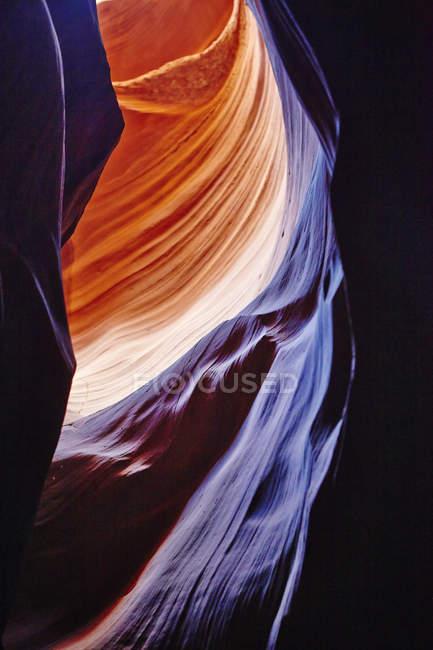 Antelope canyon rocks texture, arizona — Stock Photo