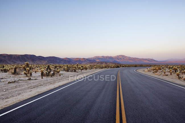 Route vide dans le parc national de la vallée de la mort — Photo de stock