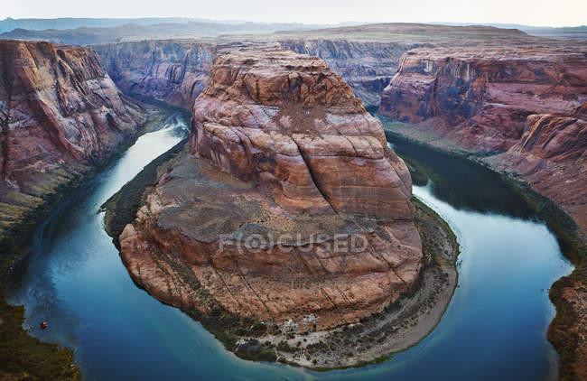 Río Colorado y formación de rocas Horseshoe Bend - foto de stock