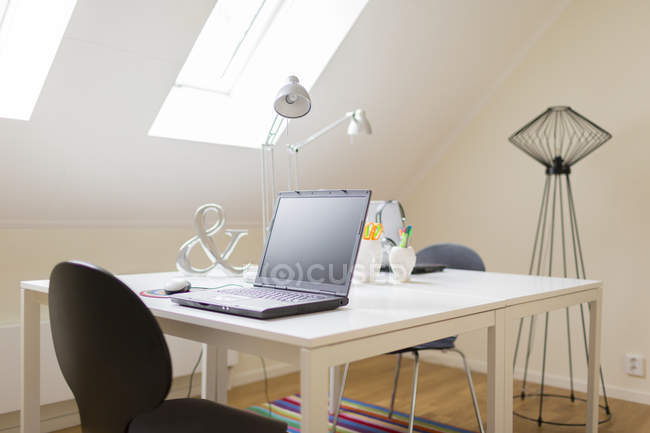 Empty home office, selective focus — Stock Photo