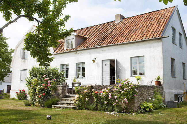 Маленький Белый дом, фокус на переднем плане — стоковое фото