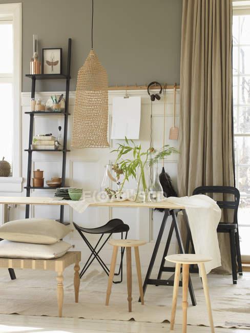 Vista do interior da casa moderna, foco seletivo — Fotografia de Stock