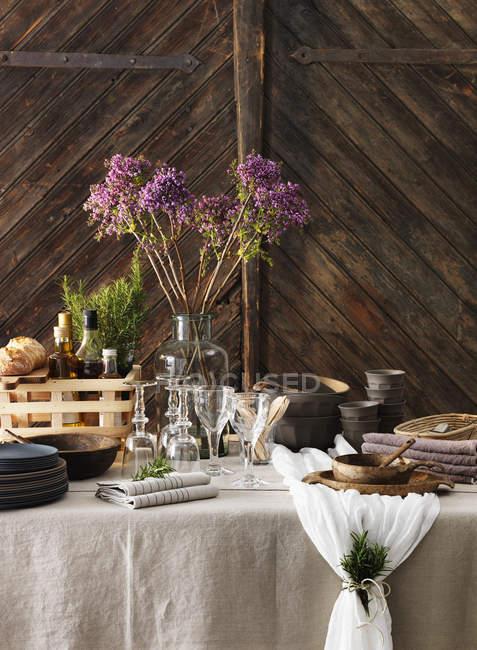 Close-up of elegant table setting — Stock Photo