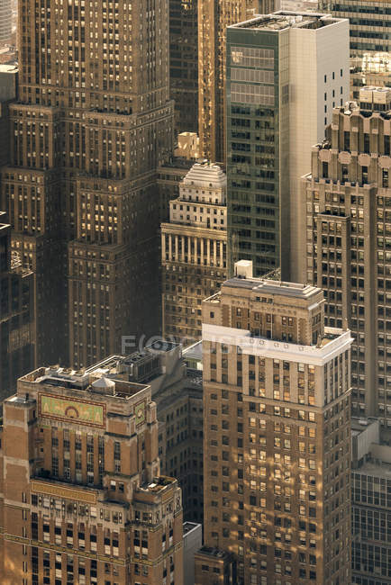 Vista de alto ângulo da paisagem urbana da cidade de Nova York — Fotografia de Stock