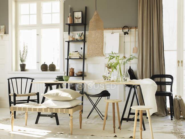 Vista del interior del hogar, enfoque selectivo - foto de stock