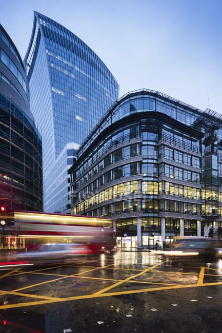 Noite na cidade de Londres, foco seletivo — Fotografia de Stock