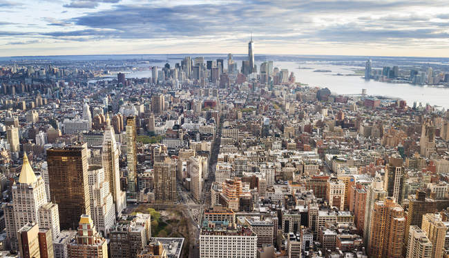 Vista aérea de Manhattan, cidade de Nova Iorque, EUA — Fotografia de Stock