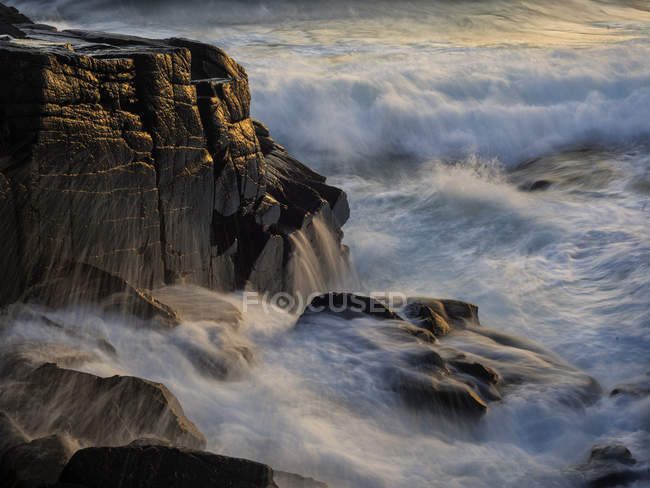 Scenic view of sea and rocks, selective focus — Stock Photo