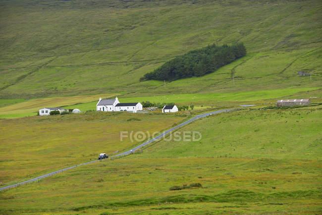 Rural scene of farm in Shetland, Scotland — Stock Photo