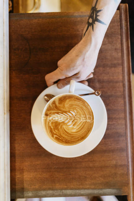 Coffee art at bakery, selective focus — Stock Photo