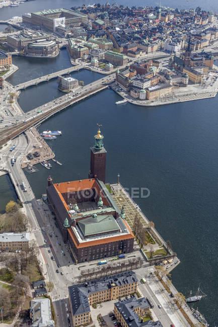 Veduta aerea di Gamla Stan a Stoccolma, Svezia — Foto stock